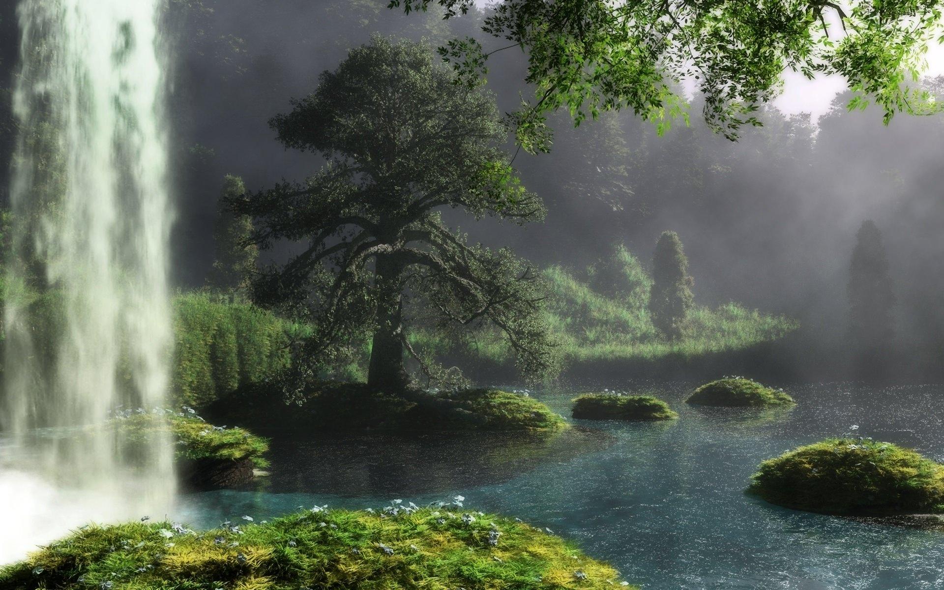 Картинки На Рабочий Стол Река Лес