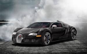 Обои красивый суперкар bugatti veyron в дыму
