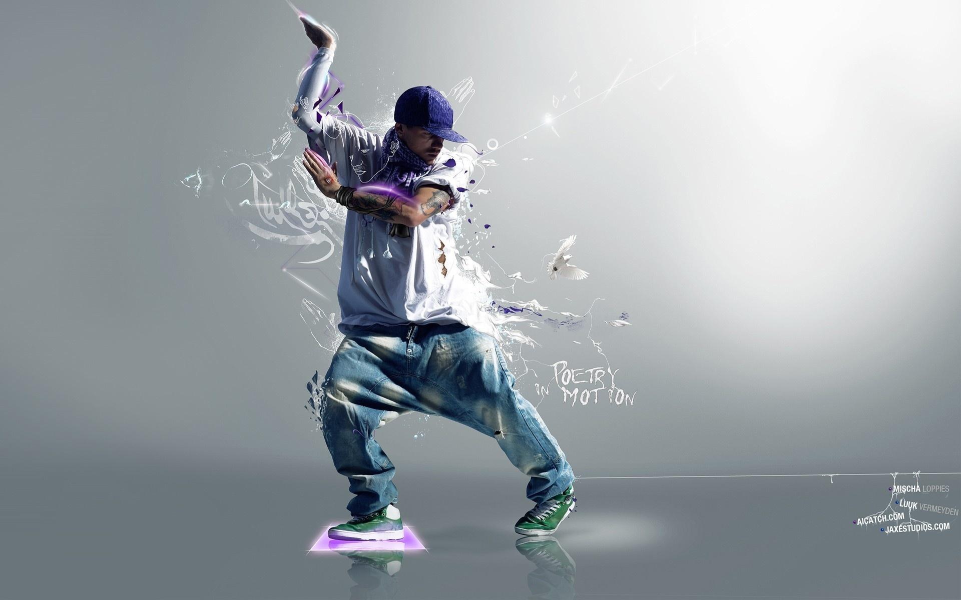 Картинка hip hop танцор в кепке исполняет