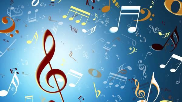 Картинка летающие музыкальные ноты