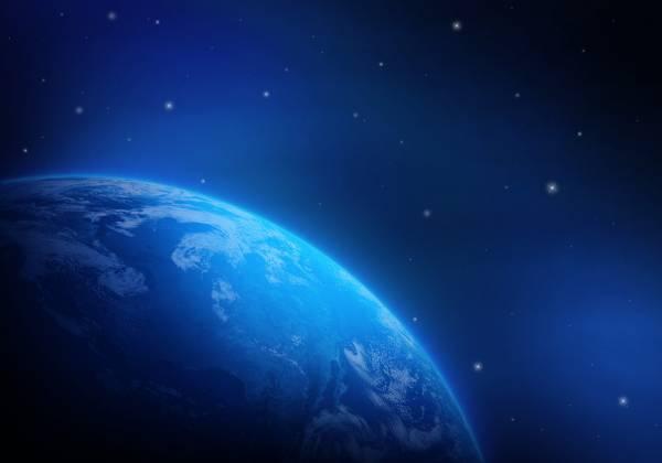 Планета земля на фоне звезд обои для